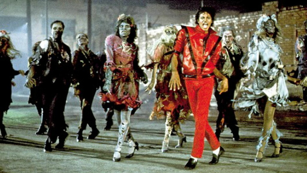 ZOMBIEFEST: John Landis regisserte den nesten 14 minutter lange Thriller, en milepæl i musikkvideoenes historie. Foto: Sony Music