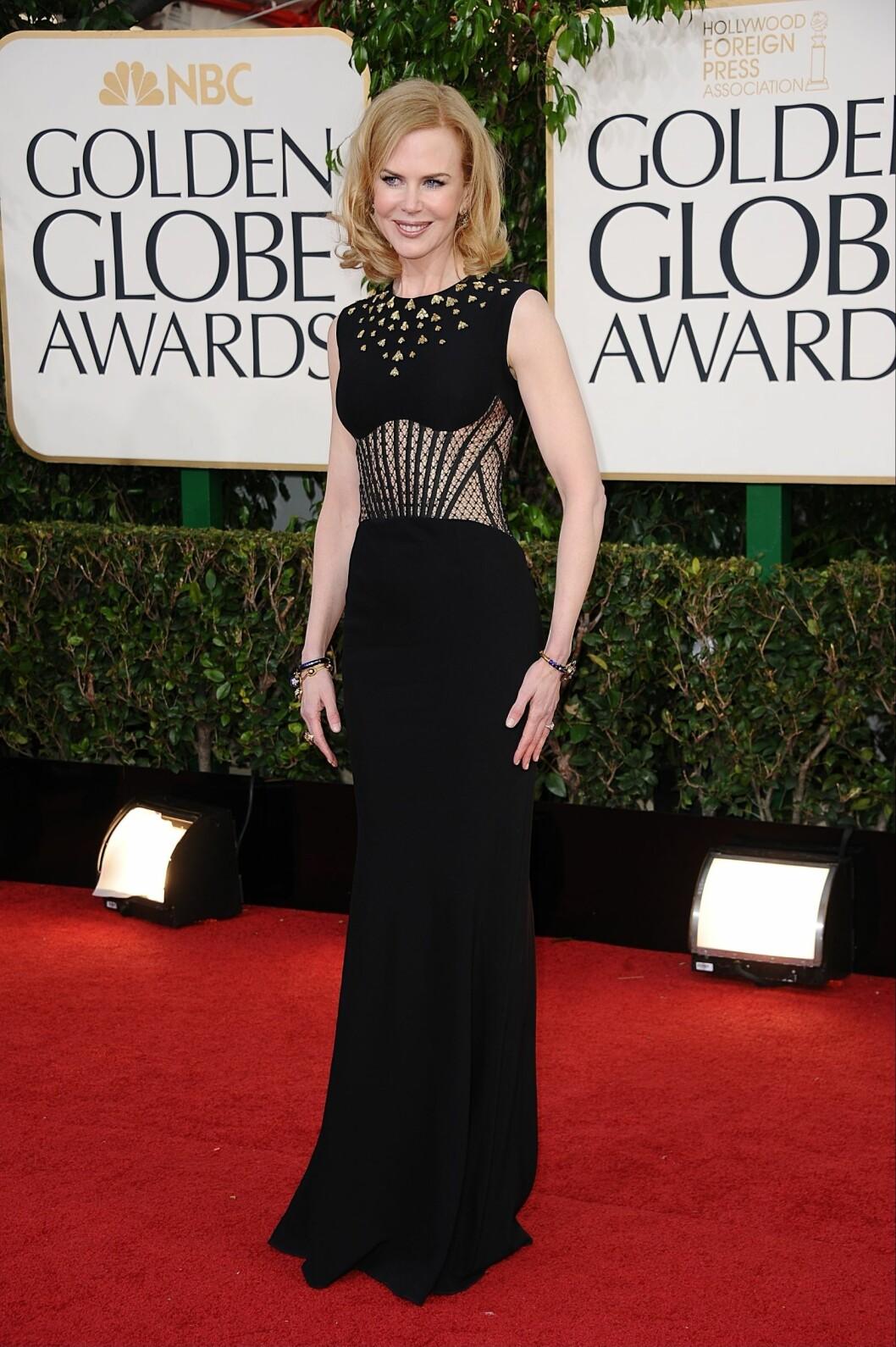 MINDRE FORMER: Nicole har alltid hatt en slank figur. Her under Golden Globe-utdelingen i januar 2013.  Foto: Stella Pictures