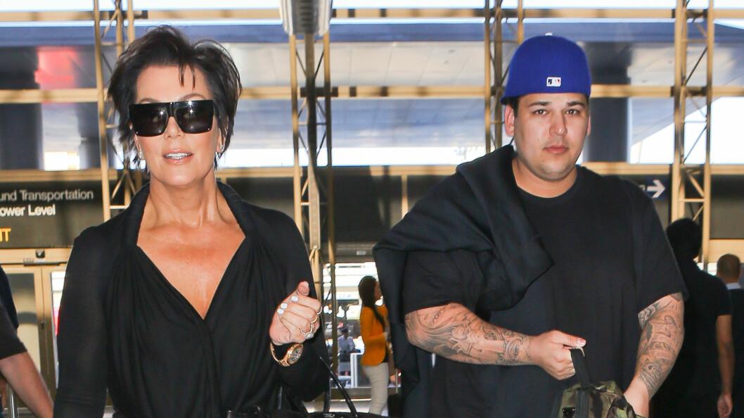 FULL SPLID: Robert Kardashian føler seg såret av moren Kris Jenners stadige mas om at han må gå ned i vekt og stempler henne som et monster. Foto: Juilano-Maciel/X17online.com/All