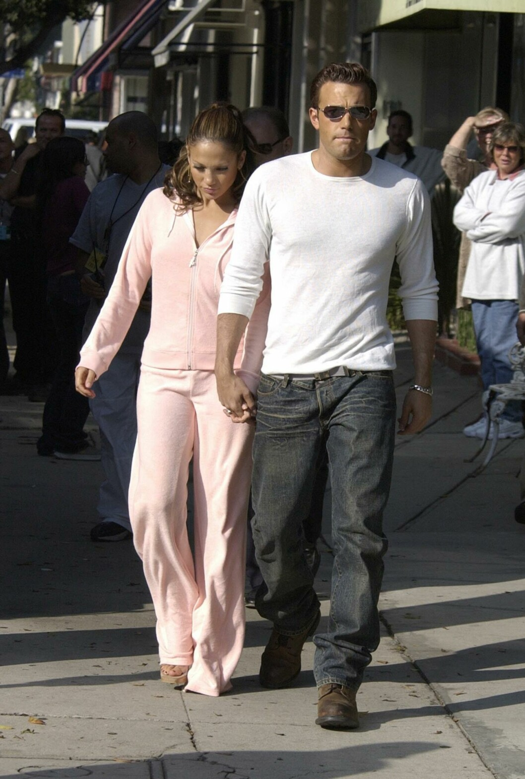 BRØT FORLOVELSEN: Ben Affleck og Jennifer Lopez møtte hverandre under innspillingen av filmen «Gigly» og var sammen i et og et halvt år.  Foto: Splash News/ All Over Press