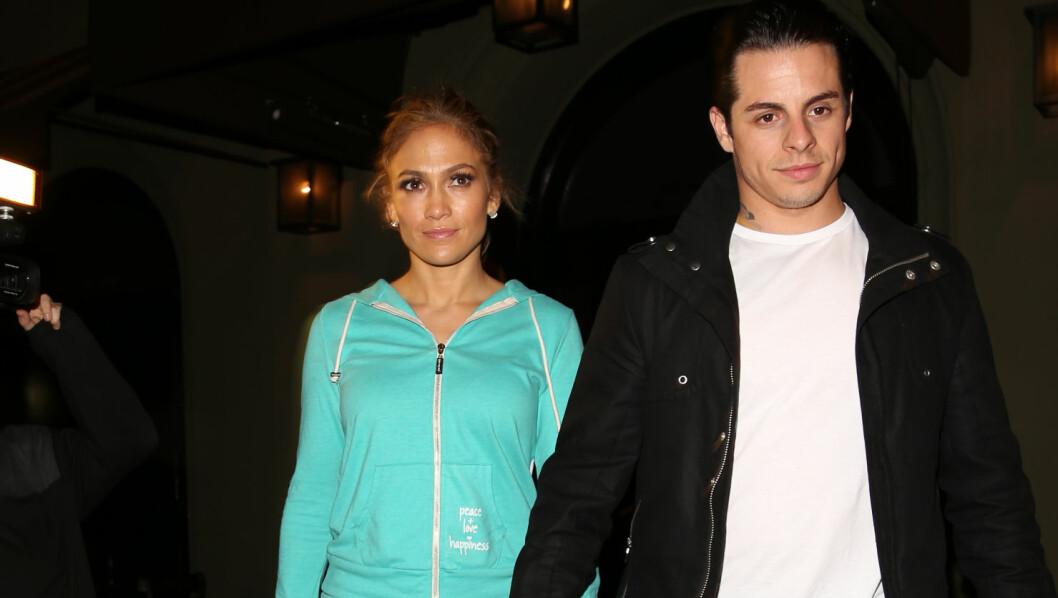 SLUTT: Nettsiden TMZ melder at det er slutt mellom Jennifer Lopez og danser-kjæresten Casper Smart.  Foto: CMG / Splash News/ All Over Press