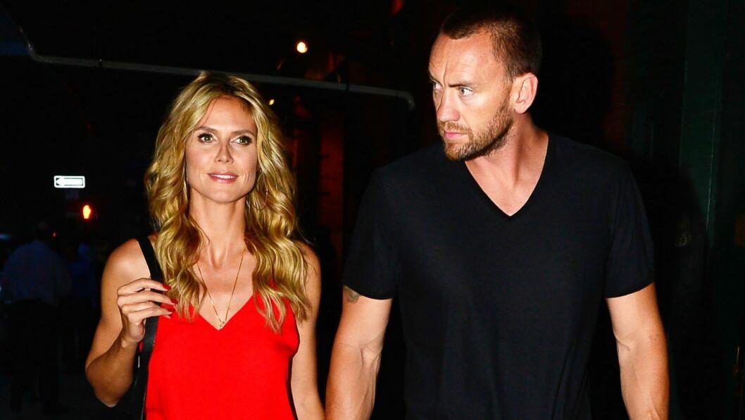 LYKKEN SPRAKK: Heidi Klum forlot ektemannen gjennom syv år for livvakten Martin Kristen. Men lykken skulle ikke vare. Foto: All Over Press