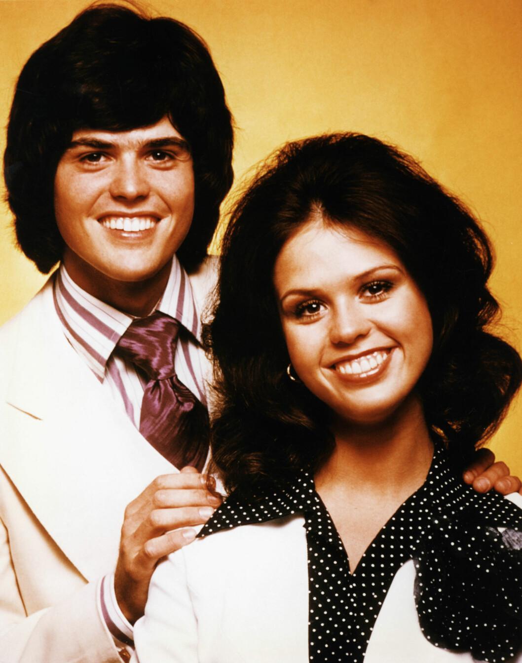 70-TALLS STJERNER: Donny og Marie Osmond gjorde stor suksess på 70-tallet med blant annet album og eget TV-show. Foto: Stella Pictures