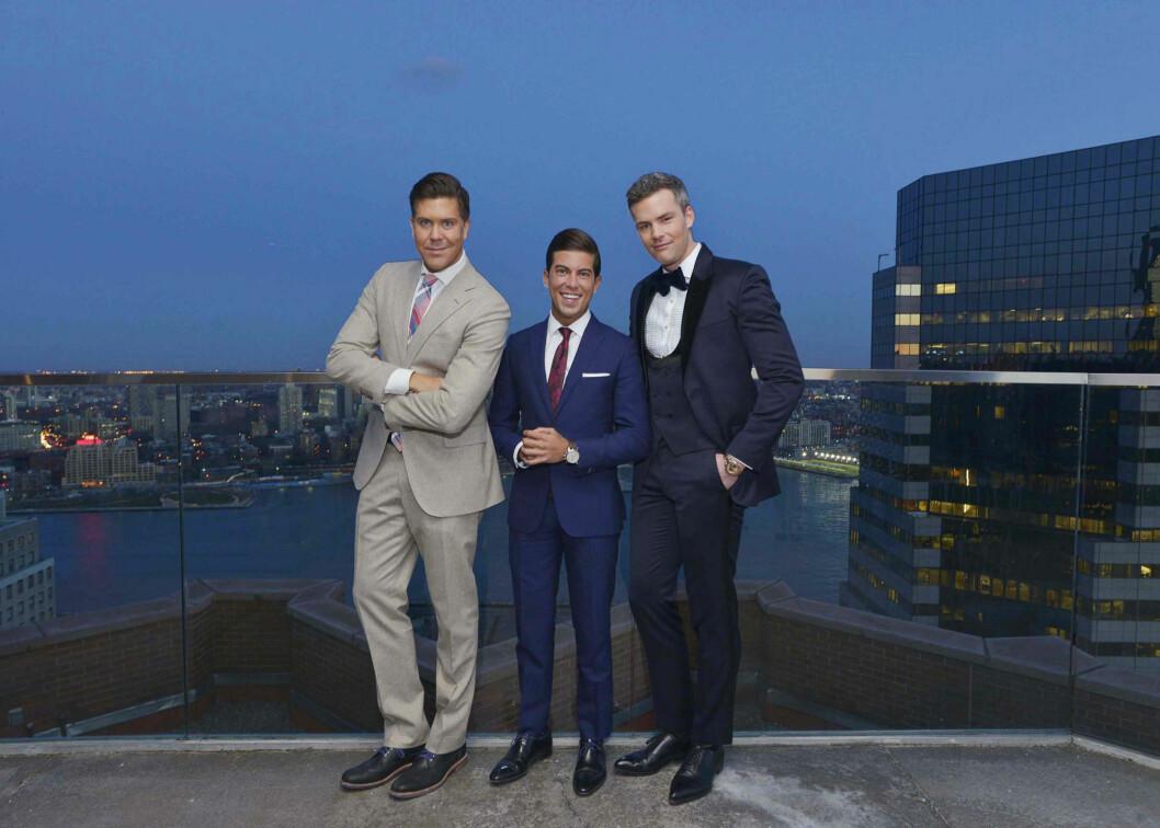 PENGEMASKINER: Fredrik Eklund, Luis D. Ortiz og Ryan Serhant kjemper om å selge de dyreste eiendommene i realistyserien «Million Dollar Listin New York».  Foto: TV3
