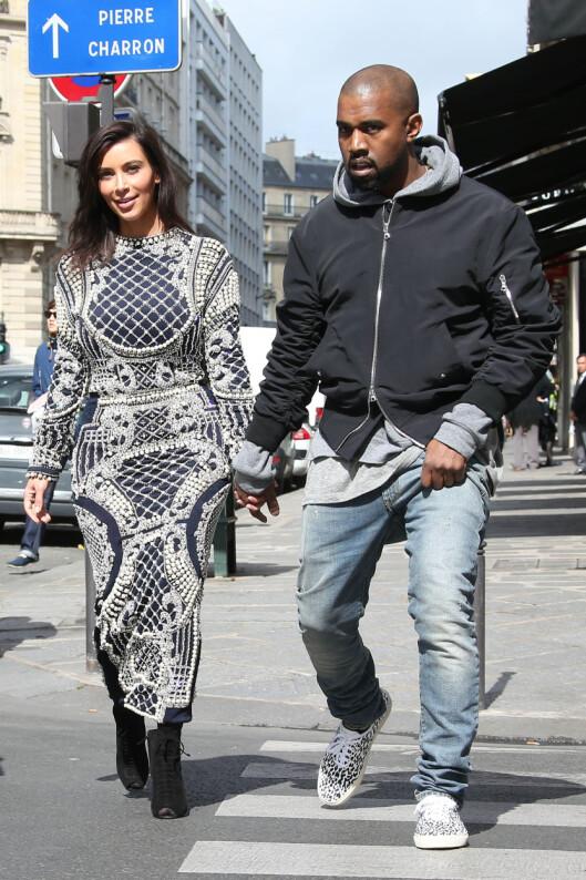 ROYALT BRYLLUP: Kim Kardashian og Kanye West ønsker seg et formelt og storslått bryllup i kongelig stil. Denne uken var de i Paris for å forberede seremonien. Foto: Stella Pictures