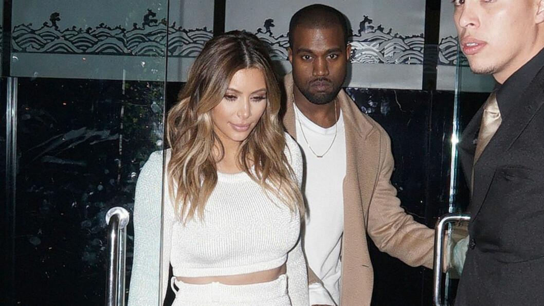 FULL AV LOVORD: I sangen «I Won» skryter Kanye West forloveden Kim Kardashian opp i skyene og legger ikke skjul på at han elsker hennes formfulle kropp.  Foto: FameFlynet
