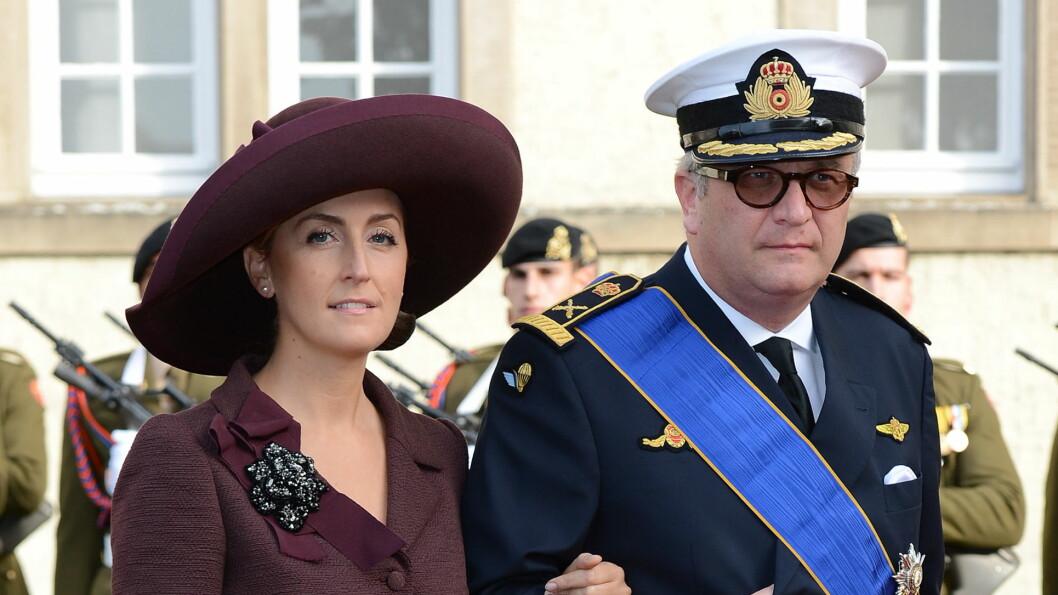 FORTSATT GIFT: Prins Laurent er fortsatt gift med prinsesse Claire, selv om det i hjemlandet ryktes om problemer i ekteskapet. Foto: James Whatling / Splash News/ Al