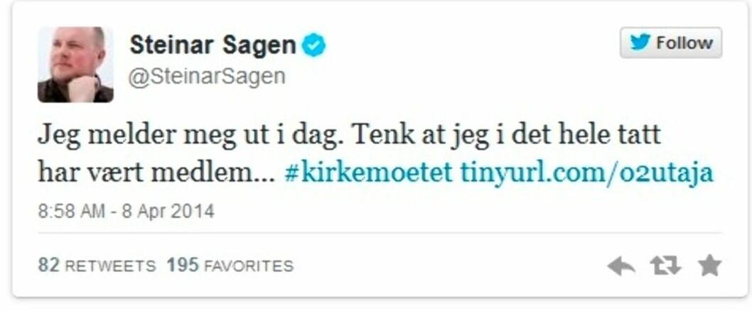 KLAR TALE: Programleder for Radioresepsjonen, Steinar Sagen, har også engasjert seg i saken