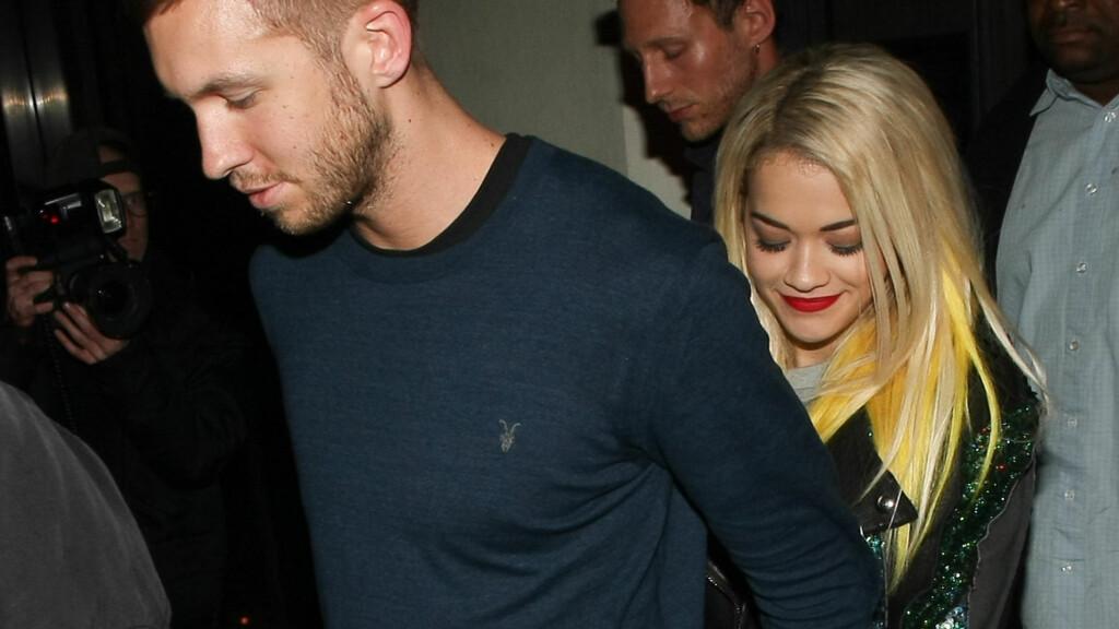 BRUDD: Calvin Harris og Rita Ora har valgt å avslutte forholdet. Foto: All Over Press