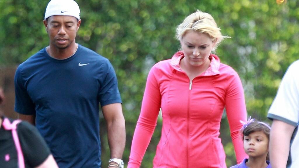BESKYLDES FOR Å BRUKE BARNA: Tiger Woods ekskone Elin Nordegren hevder at golfspilleren bruker barna for å gjenoppbygge sitt eget image. Foto: All Over Press