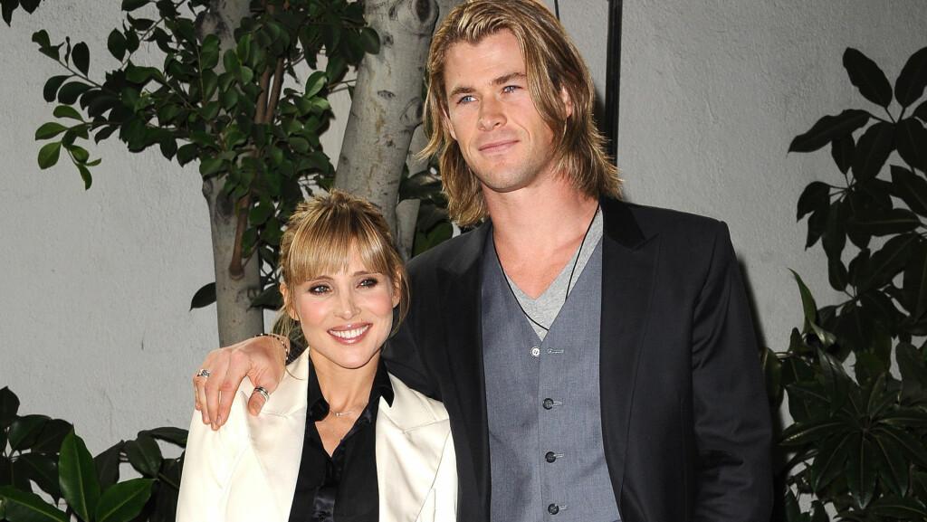 FORELDRE: Elsa Pataky og Chris Hemsworth, her i anledning Golden Globe-utdelingen, venter barn for første gang.