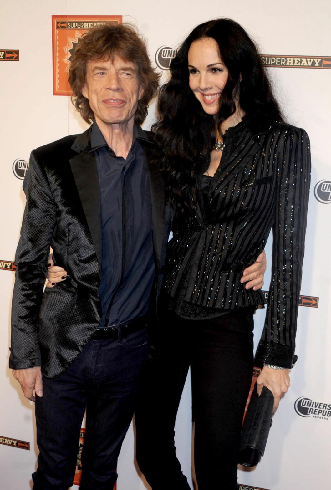 SAMMEN I 13 ÅR: Det tragiske dødsfallet til Jaggers kjæreste L'Wren Scott har gått hardt innpå mange. Foto: All Over Press