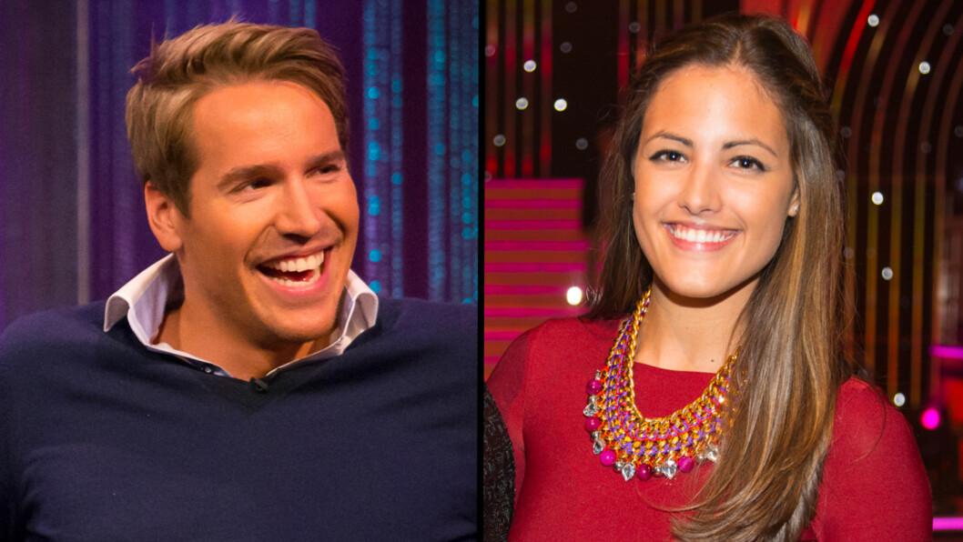 KJÆRESTER: Emil Helge Svendsen og Samantha Skogrand har vært kjærester de siste månedene. Under tirsdagens sportssending bilr hun erstattet av en annen anker.