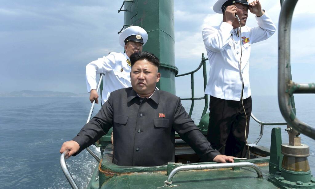 DIKTATOR: Nord-Koreas leder Kim Jong-un har gjenomført en rekke prøveskytinger i år. Nå venter det sørkoreanske forsvaret en ny oppskyting i forbindelse med presidentvalget i USA. Foto: KCNA/NTB Scanpix