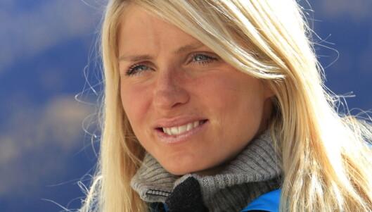 TUNGT: Skiprinsessen tok det svært tungt da beskjeden om Sten Anders kom, men hun klarte likevel å komme på fjerdeplass i OL-åpningen.  Foto: NTB scanpix