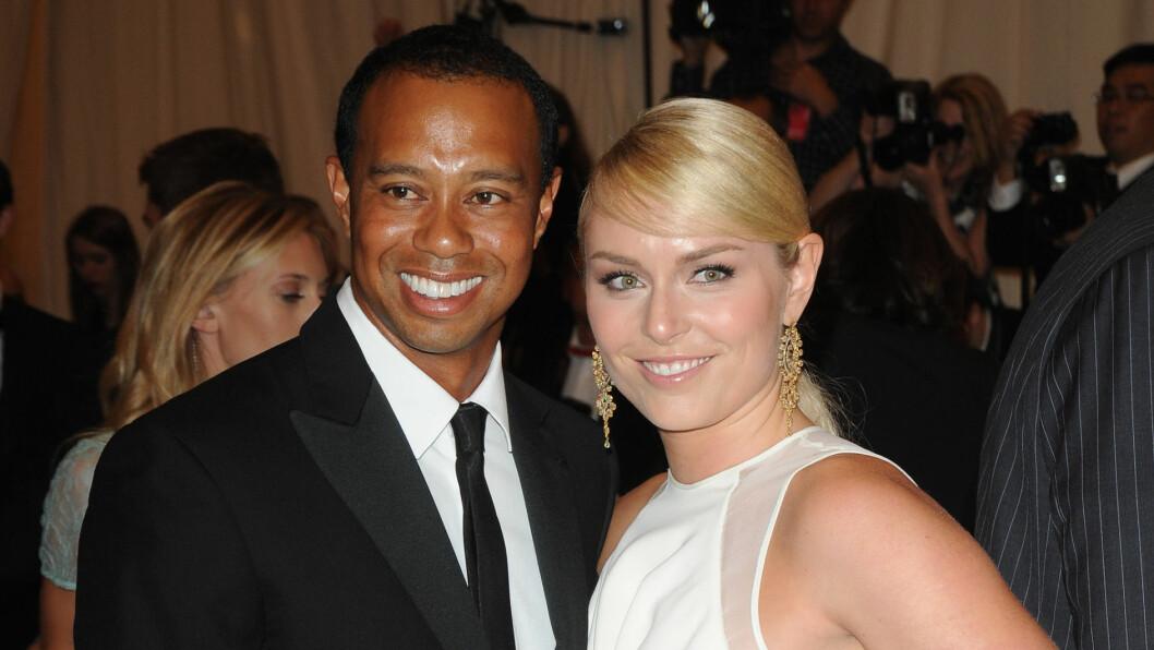 STJERNEPAR: Lindsey Vonn har vært sammen med golfstjernen Tiger Woods i ett år. Hun takker ham og moren sin Lindy Lund for all støtten de har gitt henne etter at OL gikk tapt. Foto: All Over Press
