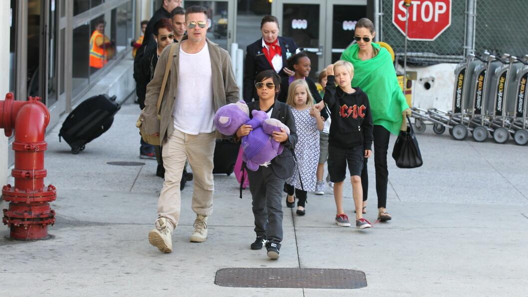 HJEMME IGJEN: Brad og Angelina er endelig tilbake i Los Angeles etter et lengre periode i Australia. Foto: Stella Pictures
