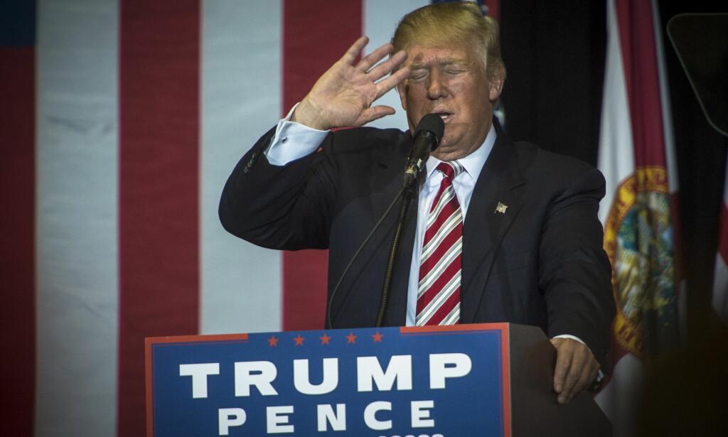 """VIL KASTE UT: USAs nyvalgte president Donald Trump sier i et intervju med CBS at han planlegger å deportere opptil 3 millioner ulovlige innvandrere fra USA. <span style=""""background-color: initial;"""">&nbsp;Foto: Øistein Norum Monsen / Dagbladet</span>"""