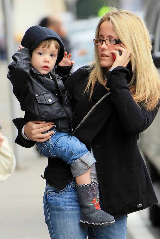 MISTET OMSORGSRETTEN: Det er Jenelle Evans' mor som har omsorgsretten for lille Jace. Foto: All Over Press