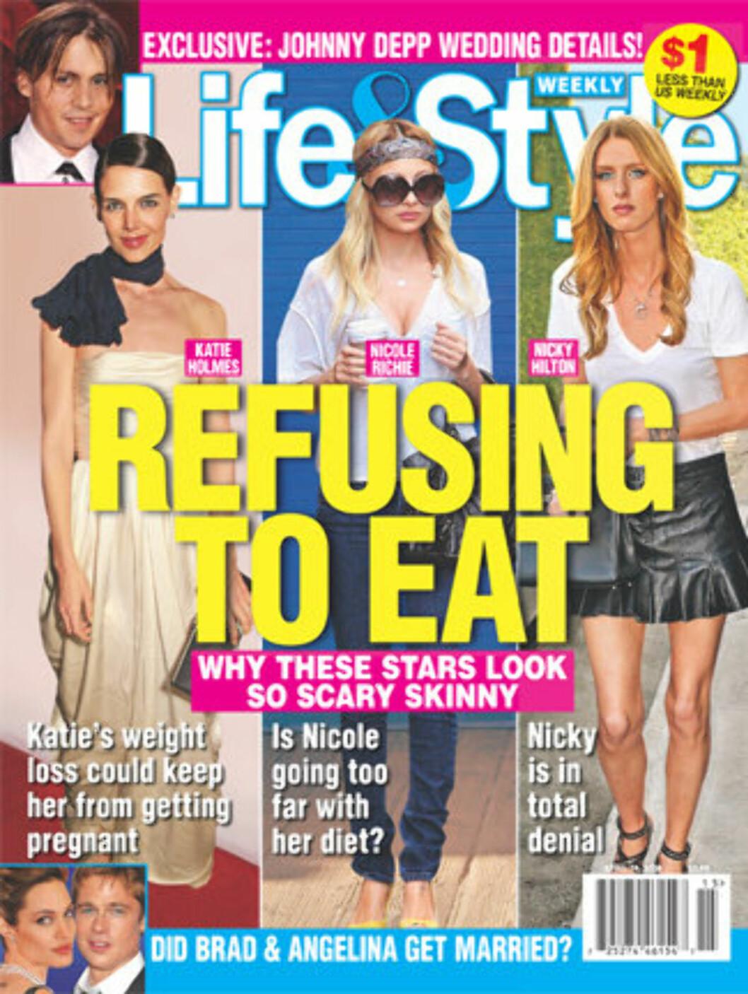 SYLSLANK: Nicole Richie har også tidligere gjort venner og familie bekymret for hennes fysiske form. Foto: Faksimile