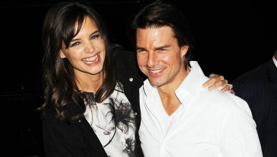 BEDRE TIDER: Tom og Katie så lenge ut til å ha det perfekte forholdet. Det viste seg ikke å stemme. Foto: All Over Press