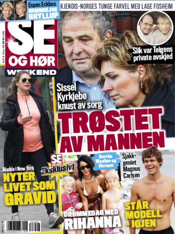 I SALG NÅ: I ukens Se og Hør Weekend kan du også lese om Magnus Carlsens modelljobbing, Sissel Kyrkjebøs sorg og mye mer! Foto: Faksimile Se og Hør