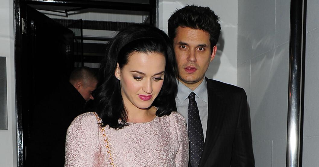 PAR: Katy Perry er sammen med sangstjernen John Mayer. Foto: All Over Press