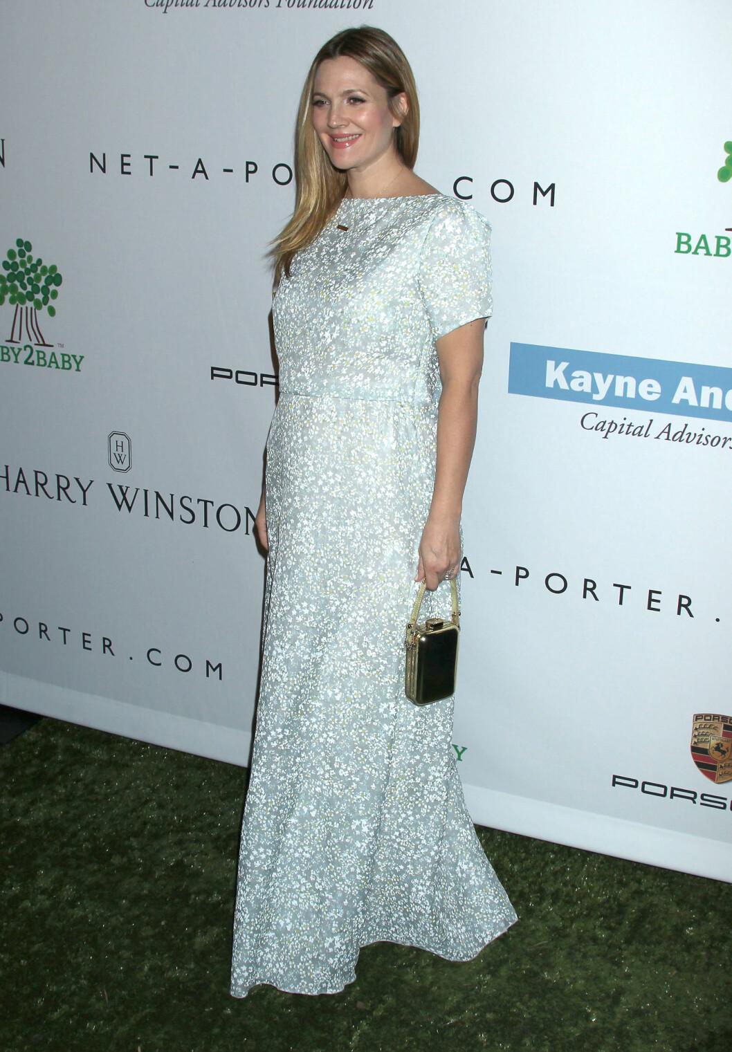 STOLT OG GRAVID: Drew Barrymore gleder seg til å bli mamma for andre gang.  Foto: All Over Press