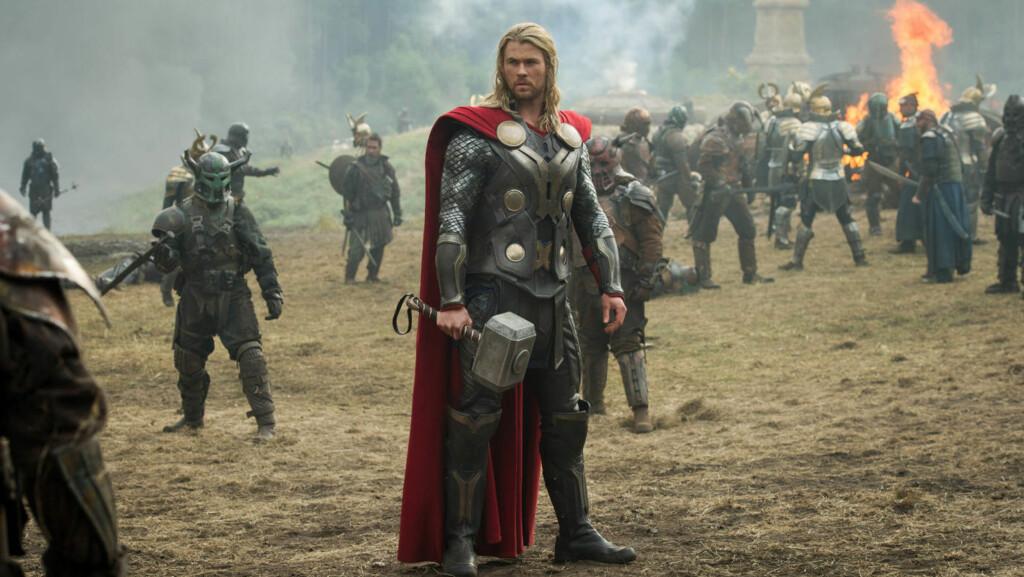 SUPERHELT: I sin siste film spiller Chris Hemsworth rollen som den muskuløse superhelten Thor.  Foto: Stella Pictures
