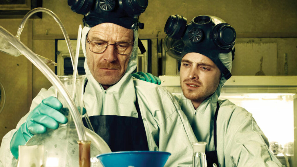 NOK ER NOK: Bryan Cranston og Aaron Paul koker metamfetamin i «Breaking Bad».