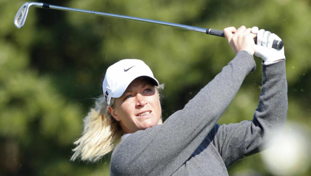 ÅPNING PÅ DET JEVNE: Suzann Pettersen åpnet ett slag under par i LPGA-turneringen i Sør-Korea. Det holder til en foreløpig 13.-plass. Foto: SCANPIX/REUTERS/Jo Yong-Hak