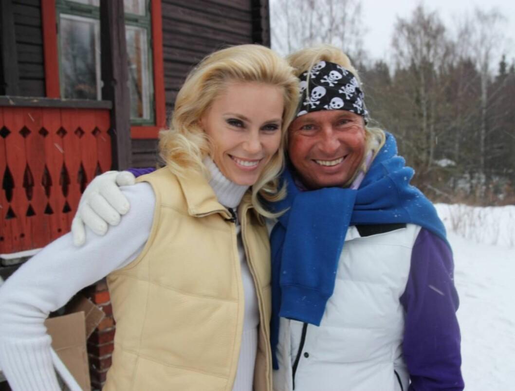 TAKKER ANNA ANKA: Atle Hansen takker Anna Anka for at hun ga ham et puff til å begynne å trene. Nå går han lange turer minst to-tre ganger i uken.  Foto: Anders Myhren/Seher.no