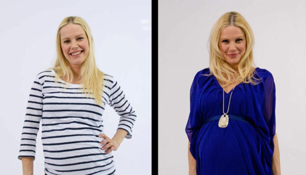FØR OG ETTER: Her er Venke Knutson før (t.v) og etter Jan Thomas' makeover i onsdagens episode av «Happy Day».  Foto: TV 2