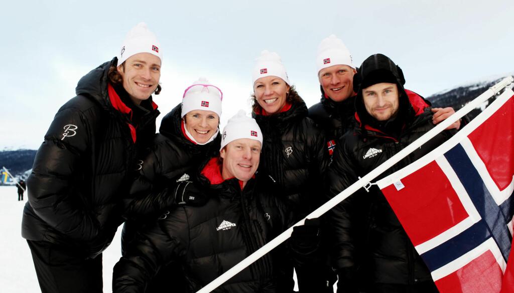 TRAKK SEG: En gammel kneskade gjorde at tidligere snowboardstjerne Daniel Franck (til høyre) måtte trekke seg under innspillingen av TV3-programmet «Landskampen».  Foto: TV 3
