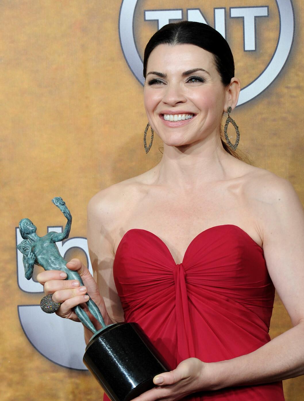 <strong>BESTE DRAMASKUESPILLER:</strong> Julianna Margulies vant for tv-serien «The Good Wife».  Foto: All Over Press