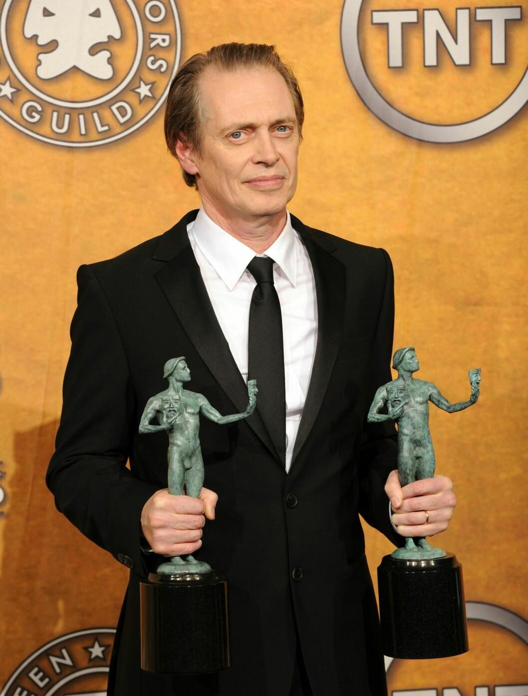 <strong>BESTE DRAMA:</strong> Steve Buscemi vant prisen for beste mannlige skuespiller i en dramaserie for rollen i «Boardwalk Empire». Foto: All Over Press