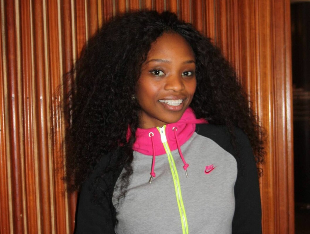 <strong>MGP-KLAR:</strong> 24 år gamle Stella Mwangi deltar i den tredje delfinalen i årets MGP, som går av stabelen i Skien lørdag kveld.  Foto: Adéle C. Blystad/Seher.no
