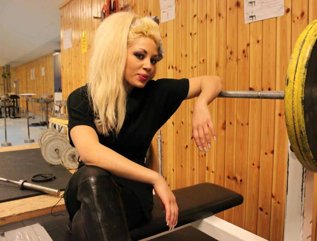 """FITNESS-DRONNING: Marika Lejon, som deltar i lørdagens MGP-delfinale i Florø, innrømmer overfor Seher.no at hun tidligere var """"treningsnarkoman"""". Frem til 2010 trente hun opp mot 15 timer i uka, nå har hun imidlertid tatt seg en pause for å fokusere  Foto: Anders Myhren/Seher.no"""