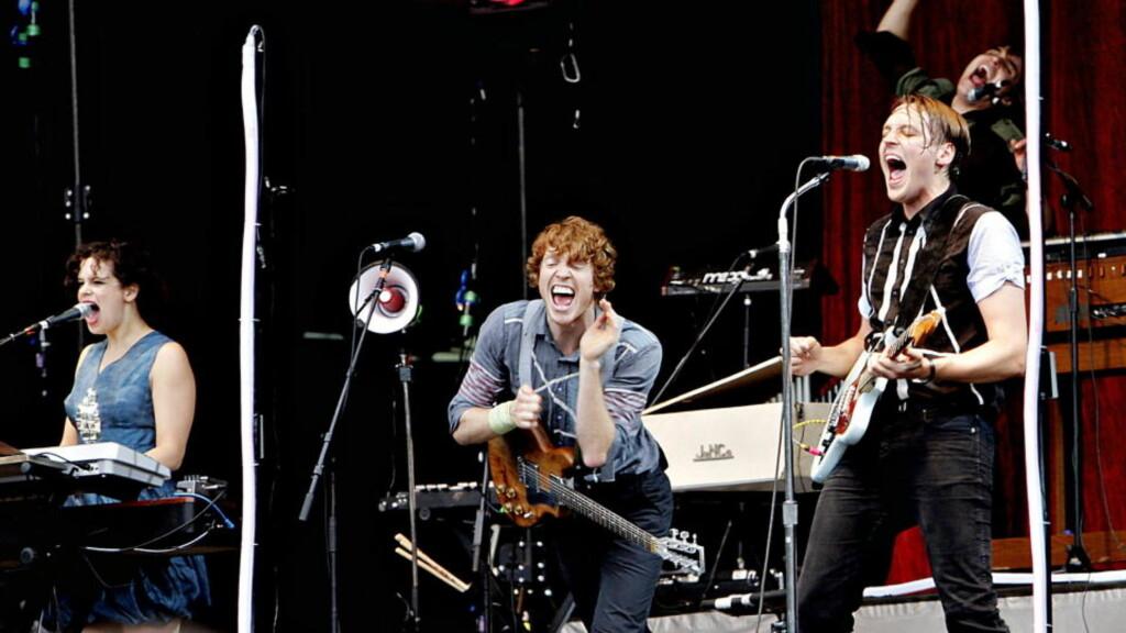SIKKERHETSRISIKO?: Arcade Fire må avlyse konserten i Lisboa etter at NATO ble bekymret for at de ikke hadde nok sikkerhetsfolk i byen. Foto: Lars Eivind Bones/Dagbladet