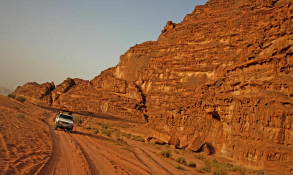 SANDLAND: Ørkenområdet Wadi Rum er enestående og havner i løpet av vinteren trolig på Unescos verdensarvliste.