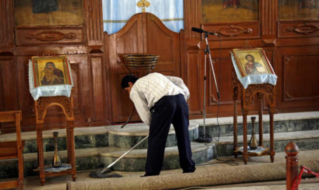 OPPVASK: Også kirkene trenger en omgang med vaskekosten, innimellom.