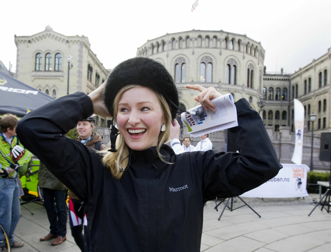 <strong>LAGER JULEKALENDER:</strong> SV-politiker Inga Marte Thorkildsen har laget en alternativ julekalender på bloggen sin.  Foto: SCANPIX