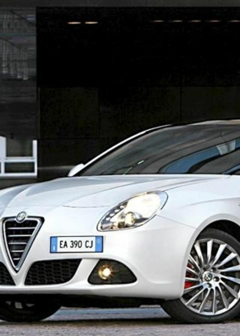 PÅ TREDJE PLASS: Alfa Romeo Giulietta. Foto: PRODUSENT