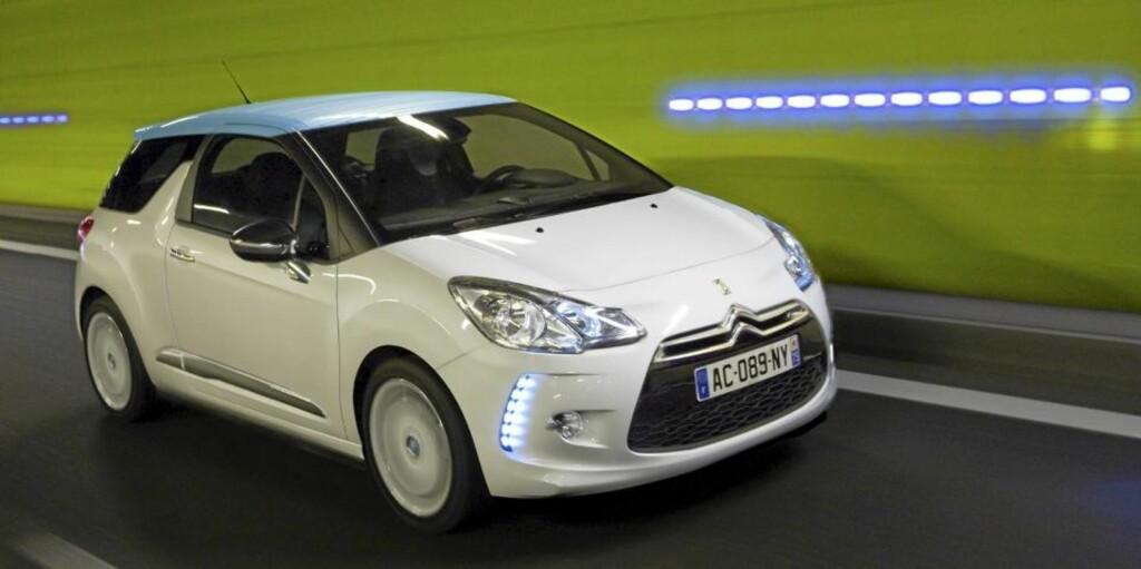 I TETEN: Etter to ukers avstemning, leder Citroën DS3 leseravstemningen i Årets bil i Norge 2011-kåringen. Foto: PRODUSENT