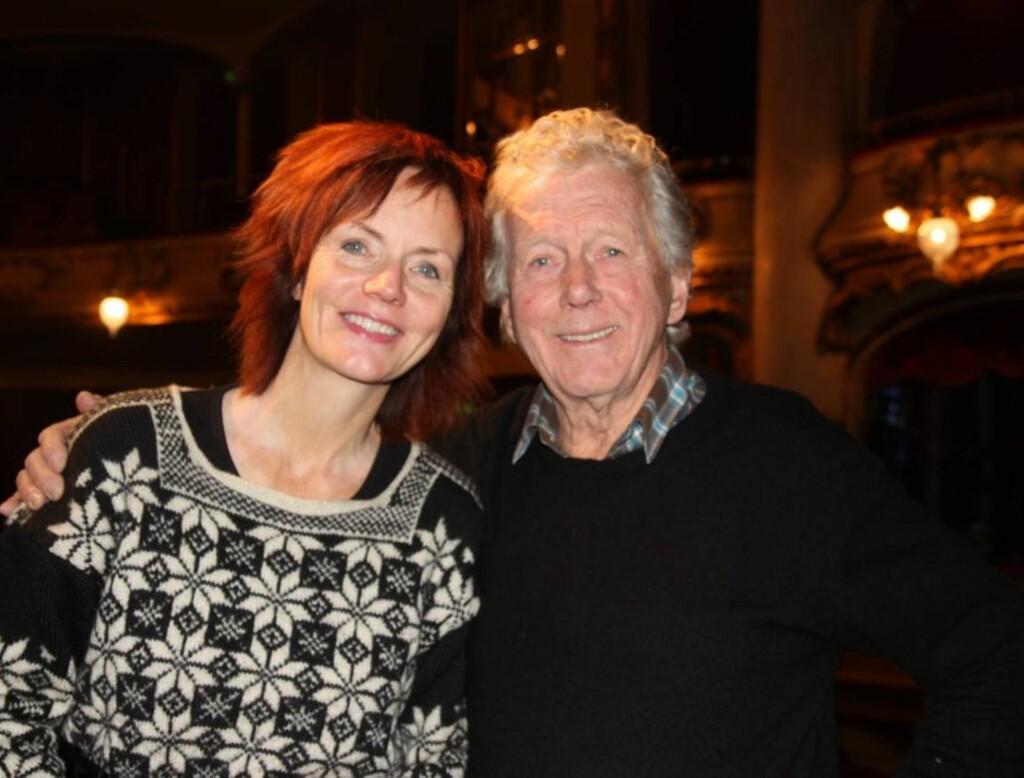 PÅ SCENEN SAMMEN: I januar står halvsøskene Mari og Toralv Maurstad på scenen sammen i forestillingen «Trær som faller» på Nationaltheateret.  Foto: Adéle C. Blystad/Seher.no