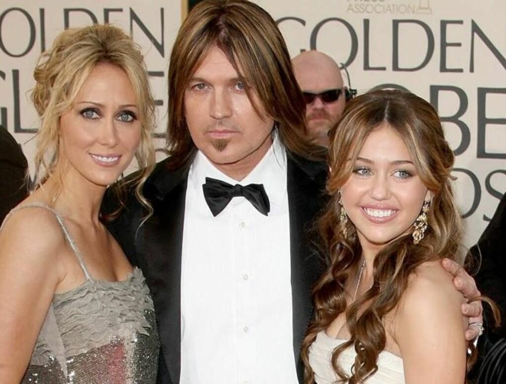 KRANGEL FØRTE TIL BRUDD: En krangel om Mileys oppdragelse skal være en av årsakene til bruddet mellom Billy Ray og Tish Cyrus.  Foto: All Over Press