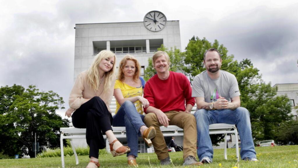 SEERSVIKT: Helle Vaagland, Siss Vik, Vegard Larsen og Asbjørn Slettemark sliter med  trekke seere til sine kulturprogrammer. Foto: Torbjørn Berg / Dagbladet