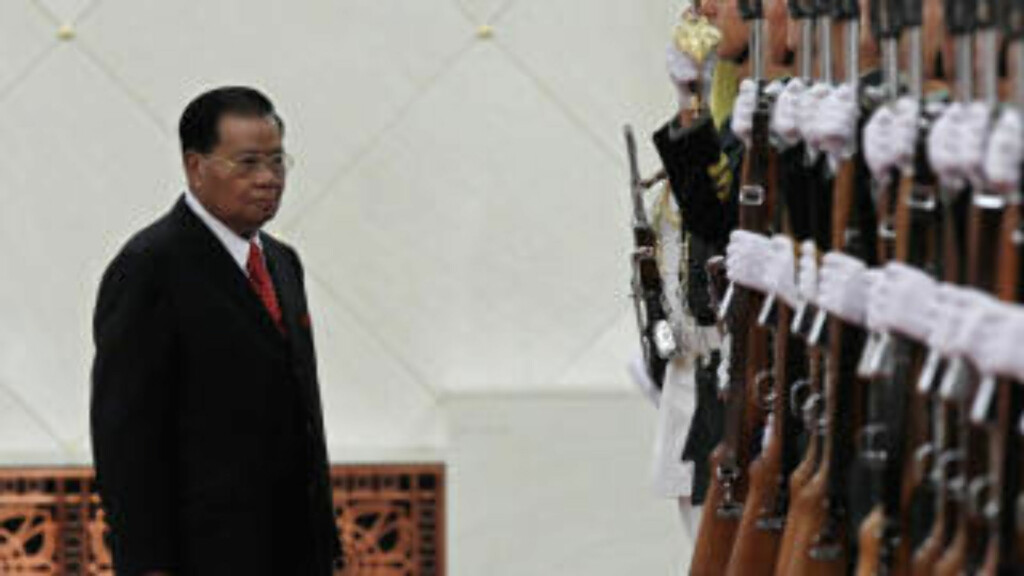 KRITISERES: General Than Shwe. Foto: Reuters/Scanpix