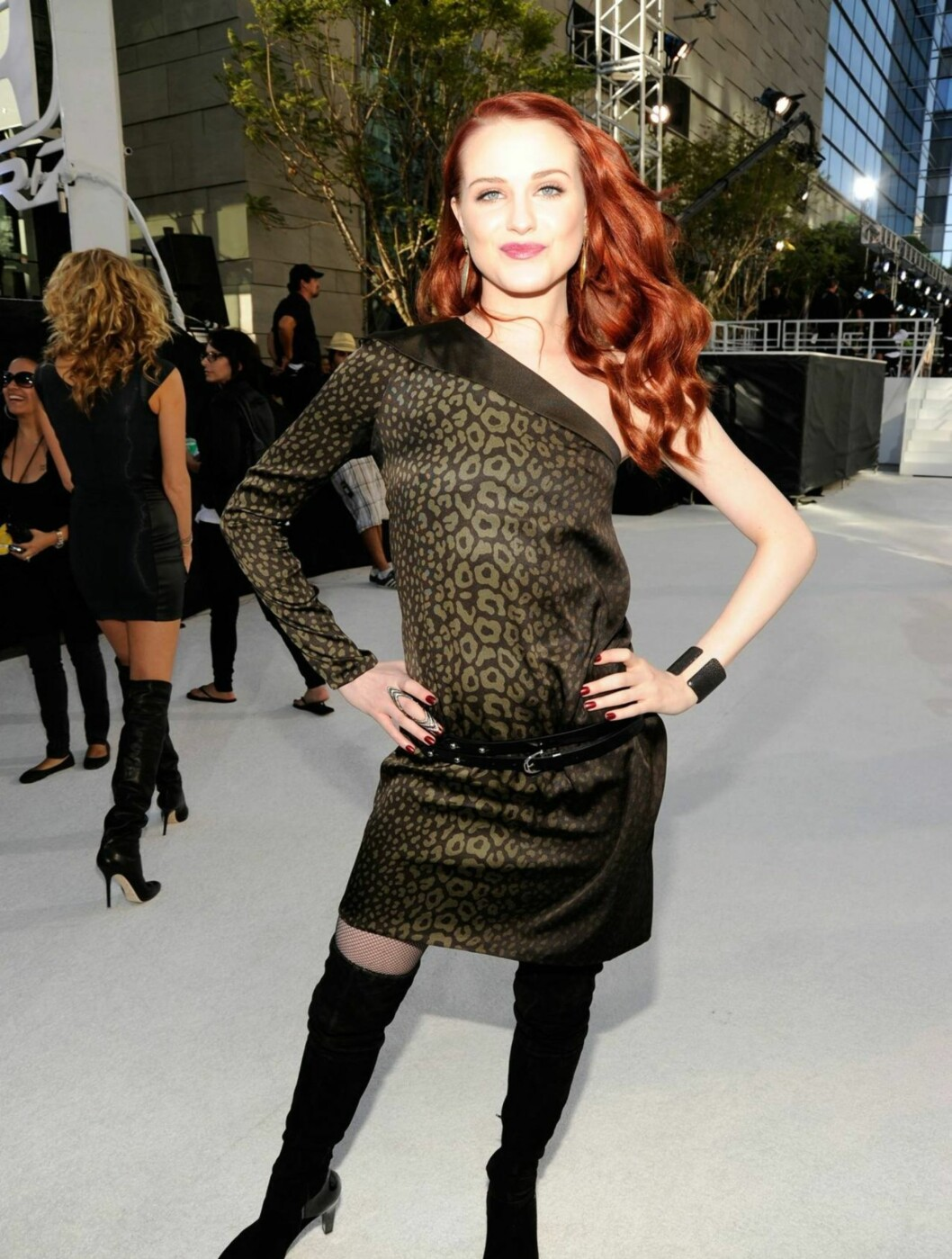 VERST: «True Blood»-stjernen Evan Rachel Wood fikk negativ omtale for denne Gucci-kjolen.  Foto: All Over Press