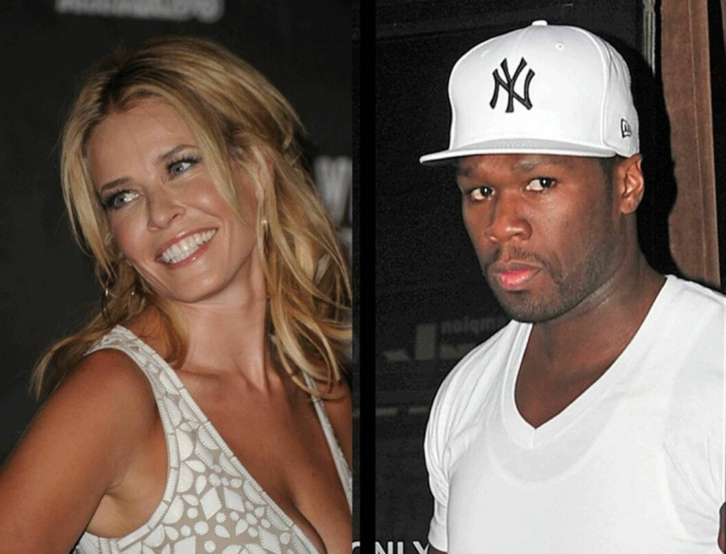 DATER: Kilder bekrefter nå at talkshowdronningen Chelsea Handler og rap-stjernen 50 Cent dater. Foto: All Over Press